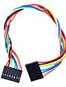 8 PIN Dupont Fil connecteur femelle 200mm Longueur 2,54 mm - multicolore