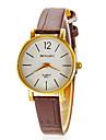Cycle simple de femmes unité centrale de cadran de quartz de bande analogique montre-bracelet