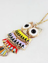 Summer models Kette colour owl sweater chain necklace N283