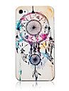 Fashion Three Net And Feather Pattern Transparent Frame Back Case for iPhone 4/4S