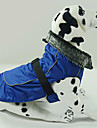 Dog Coat Dog Clothes Waterproof Keep Warm Solid Black Red Blue