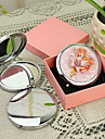 Personlig gåva Blom Style Pink Chrome Compact Mirror
