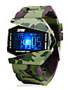 SKMEI® Men\'s Watch Camouflage Military Aircraft LED Multi-Function Cool Watch Unique Watch Fashion Watch