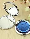 Εξατομικευμένη δώρων Flower Pattern Chrome Compact Mirror