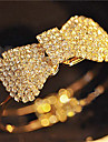 Women\'s Bangles Open Adjustable Simple Style Crystal Rhinestone Alloy Bowknot Jewelry Christmas Gifts Party Daily Costume Jewelry
