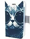 Gato inteligente com Capa de Couro Olhos PU para iPhone 4/4S