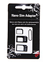 3-in-one Nano Sim to Micro and Standard Sim Card Adapter for iPhone 4/4S/5/5S/5C and Others (Assorted Colors)