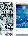 Hard Case Tiger Pattern avec protecteurs d'écran 3-Pack pour Samsung Galaxy i9500 S4
