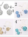 Classic Wedding Party Daily Crystal Alloy Ball Earrings Necklaces