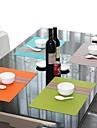 Simplesmente Moda Estilo cores sortidas Listrado Roteiro para o jantar, L45cm x W 30 centimetros, Calor PVC resistente