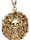 Men\'s Coin Pendant Necklace - Skull Vintage Bronze, Golden Necklace For Christmas Gifts, Party, Daily