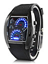 Men\'s Digital Wrist Watch Sport Watch Calendar / date / day LED Speedometer Rubber Band Creative Black