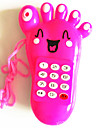 Electric Musical Toy Mobile Phone Foot Shaped(Random Color)