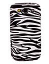 Zebra Stripe Pattern TPU Soft Case Capa para Galaxy S3 I9300