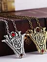 Shixin® European (Twilight) Bronze Alloy Pendant Necklace(Bronze,Silver) (1 Pc)