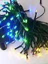 17m 100 leda punjiva / ukrasna za vanjsku / vrtnu PVC božićnu dekoraciju žarulja svjetlosti / duga