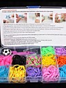 Rainbow Rubber Band / Jewelry Boxes / Clasps & Hooks Resin / Rubber DIY Jewelry 17.0*10.0*2.2 cm 0.116 kg