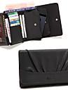 4in1 Черный PU квадрат осложняется многофункциональный сцепления держателя карты кошелек кошелек мешок телефона