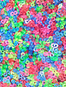 Tools or Charms for Rainbow Colorful Loom Colored S-Clips DIY Rubber Band Connector(1000 Pcs)