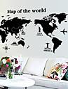 carte du monde murale motif autocollant (1pcs)
