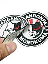 배지 에서 영감을 받다 Dangan Ronpa Monokuma 아니메/비디오게임 코스프레 악세서리 배지 화이트 / 블랙 / 레드 폴리에스터 남성