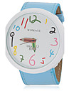 Femme Montre Tendance Quartz Polyurethane Bande Bleu Orange Marron Rose Violet Jaune