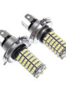 LED H4 120x3528SMD lumiere blanche pour ampoule de phare (2pcs)