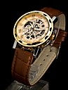 Men's Fashion Mechanical Skeleton Luxury Leather Watch