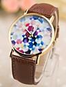 la mode féminine pu rose boîte or montres à quartz (couleurs assorties)
