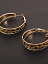 Earring Hoop Earrings Jewelry Party / Daily / Casual Alloy Gold