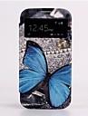 Автоматическое выключение / звонок Blue Butterfly Skylight дизайн корпуса Кожа всего тела для Samsung Galaxy S4 i9500
