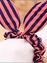 Striped Fabric Rabbit Ears Dots Elastic Hair Bands Hair Ties