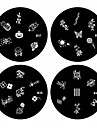 1PCS Nail Art Stamp Stamping Image Template Plate B Series NO.37-40(Assorted Pattern)
