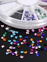 600pcs 12colours forma quadrada de acrilico strass roda nail art decoracao
