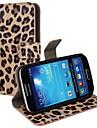 Леопардовый PU кожаный чехол всего тела с ремешком и наклейка для Samsung Galaxy S4 Mini I9190