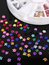 Strass forma 600pcs 12colours flor acrilico roda nail art decoracao