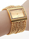 Women's Quartz Bracelet Watch Japanese Imitation Diamond Copper Band Luxury / Sparkle / Elegant / Fashion Gold