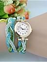Жен. Модные часы Часы-браслет Кварцевый Имитация Алмазный PU Группа Блестящие Богемные Элегантные часы Черный Белый Синий Хаки