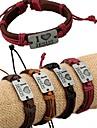 Bracelet Bracelets d'identification Alliage Cuir Amour Original Mode Quotidien Bijoux Cadeau1pc