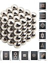 64pcs 5mm DIY Buckyballs and Buckycubes Magnetic Blocks Balls Toys Silver