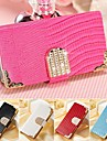 Animal Grain with Diamond PU Leather Full Body Case for iPhone 4/4S (Assorted Color)