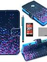 caso corpo de coco fun® noite pattern pirilampo couro pu completo com protetor de tela, caneta e ficar para Lumia Nokia N520