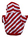 Cat Dog Hoodie Dog Clothes Stripe Red Cotton Costume For Pets Men\'s Women\'s Casual/Daily