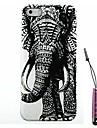 padrão elefante direito caso difícil&caneta de toque para iPhone 5 / 5s