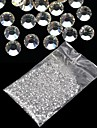 20000pcs 1 5mm clear round rhinestones hard case nail art decorations acrylic uv gel