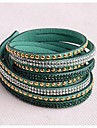 bracelets en cuir deux nouveaux arrivants morceau de cuivre populaire diamant vert foncé