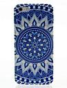 블루와 iPhone4/4S를위한 화이트 도자기 패턴 하드 케이스