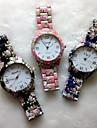 americana de moda flor spray de assistir adorável impressão Quatz relógio genebra (cores sortidas) d0106