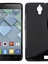 простой мягкий с дизайн и форма, гель ТПУ чехол для Alcatel One Touch идола х 6040 6040A 6040d (разных цветов)