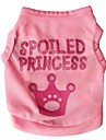 Cat Dog Shirt / T-Shirt Dog Clothes Tiaras & Crowns Rose Pink Terylene Costume For Pets